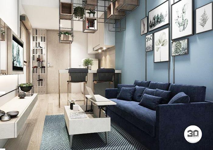 同社で扱っている、BTSプンナウィティー駅近のウィスドム101の部屋は、天井が高くて開放感バツグン